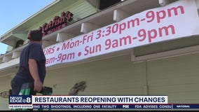 Restaurant reopening with changes