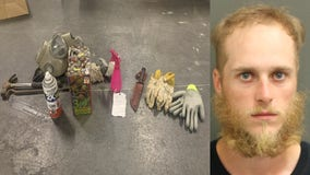Police: Knife, hammer, crowbar, spray paint, fireworks among items found on Orlando protester
