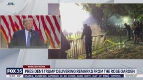 President Trump addresses nation on protests