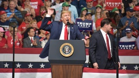 President Trump's visit to Arizona marked by border visit, Phoenix event, protest