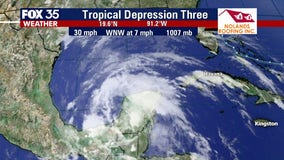 Tropical depression forms off Yucatán Peninsula, expected to strengthen