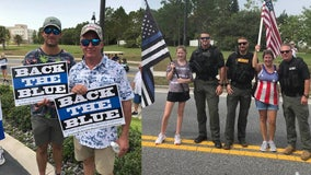 Supporters come out for 'Back the Blue' rally in Tavares