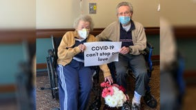 'Can't stop our love': 90-year-old couple shares emotional reunion after wife recovers from coronavirus