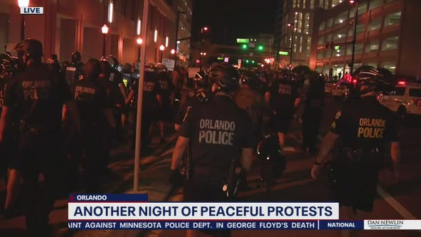Police disperse protester sit-down at Orlando City Hall