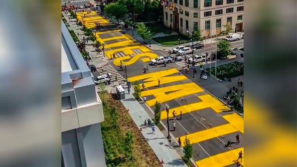 Here's what DC's massive Black Lives Matter street art looks like ... from space
