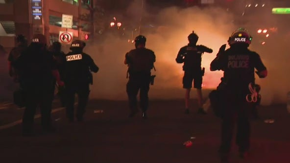 VIDEO: Orlando police officers fire tear gas at protesters to disperse crowds after curfew