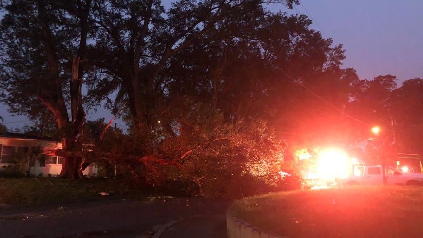 Severe weather brings damage to areas of Orlando