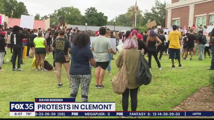 Protesters gather for peaceful assembly in Clermont
