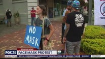 Face mask protest in Seminole County