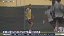 Lions hold first night training session