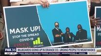 Billboards going up in Orange Co. urging people to wear masks