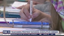 Teachers protest school executive order