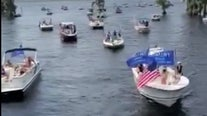 Hundreds take part in Clermont boat parade to show support for President Trump