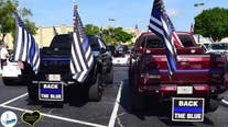 'Red, White and Back the Blue' car parade in Central Florida honors law enforcement