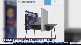 Protective barriers would separate students