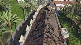 Fire rips through historic San Gabriel Mission