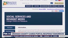 Orange CARES portal reopens Monday