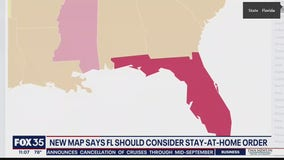 New map suggests Florida should consider stay-at-home