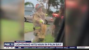 Lightning strikes man in Palm Bay
