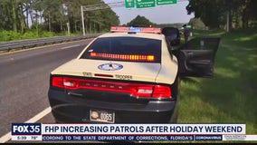 FHP increasing patrols after holiday weekend