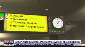 EU bans American travelers as cases surge