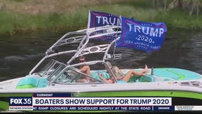 Boaters come out to show support for Trump 2020