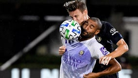 Orlando City takes top spot after 1-1 draw with Philadelphia