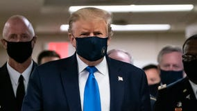 President Trump wears mask in public for first time during pandemic
