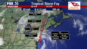 Tropical Storm Fay makes landfall, expected to bring heavy rain to Northeast