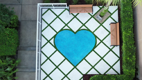 Orlando healthcare workers gifted with blue heart-shaped monument
