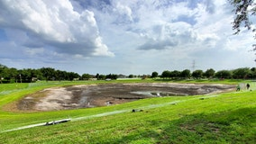 Test being performed after retention pond near Disney loses water 'seemingly overnight'