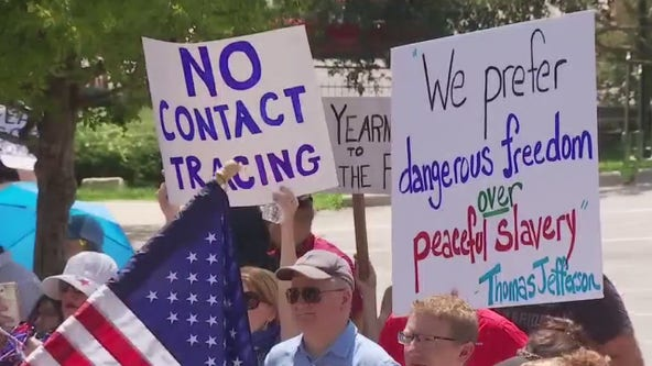"Protesters gather at Texas Capitol for ""Shed the Mask"" rally"