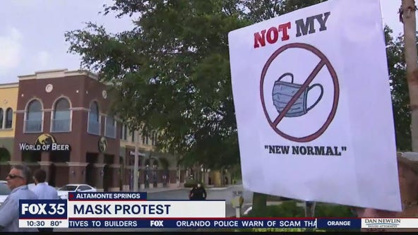 Marchers protest mask order in Seminole County