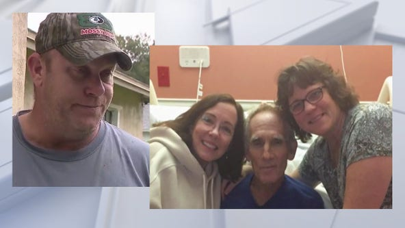 Sisters of man struck by lightning meet Good Samaritan who saved brother's life