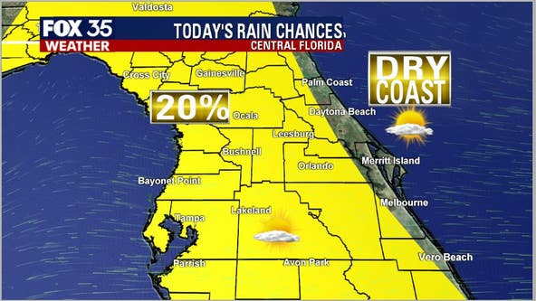 Rain chances decrease today but rise for the weekend