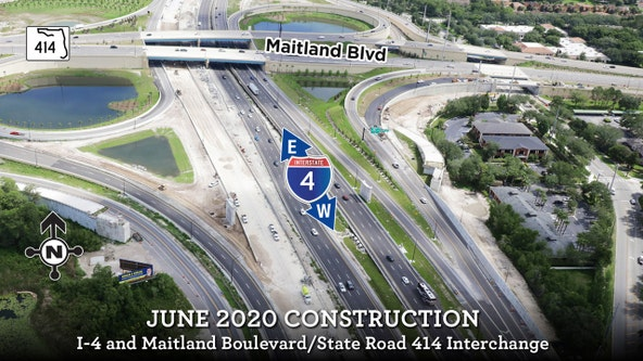 'Another milestone': Westbound I-4 in Maitland to close for lane shift into final alignment, FDOT says