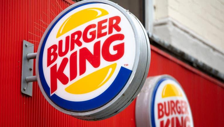 FILE - A close-up of a Burger King sign.