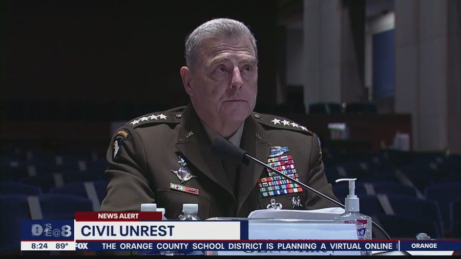 Pentagon officials questioned about civil unrest surrounding Floyd protests