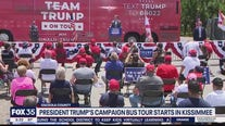 President Trump's campaign bus tour starts in Kissimmee
