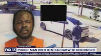 Police say man tried to steal car with child inside