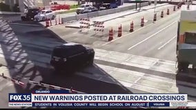 New warnings posted at railroad crossings