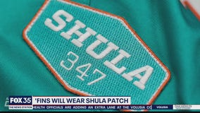 'Fins will wear Shula patch this season