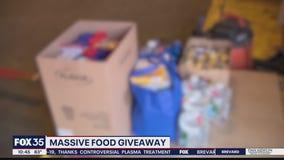 Massive food giveaway in Sanford