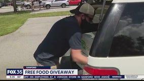 Sanford church holds food distribution