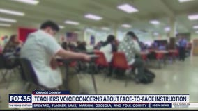 Teachers voice concerns about face-to-face learning