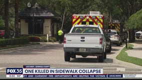 Man killed in Lake Mary sidewalk collapse