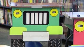 1st-grade teachers turn desks into Plexiglass Jeeps for awesome 'off-road adventure'