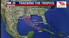 Laura expected to strengthen into Category 2 hurricane, Marco now tropical depression