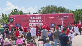 President Trump's campaign bus tour kicks off in Central Florida, will visit key states for 2020 election