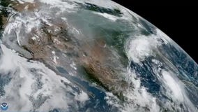 Dual disasters: Incredible satellite imagery captures Hurricane Laura, wildfires in California from space